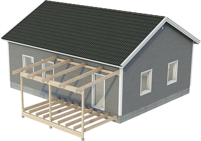 bygga tak till uterum