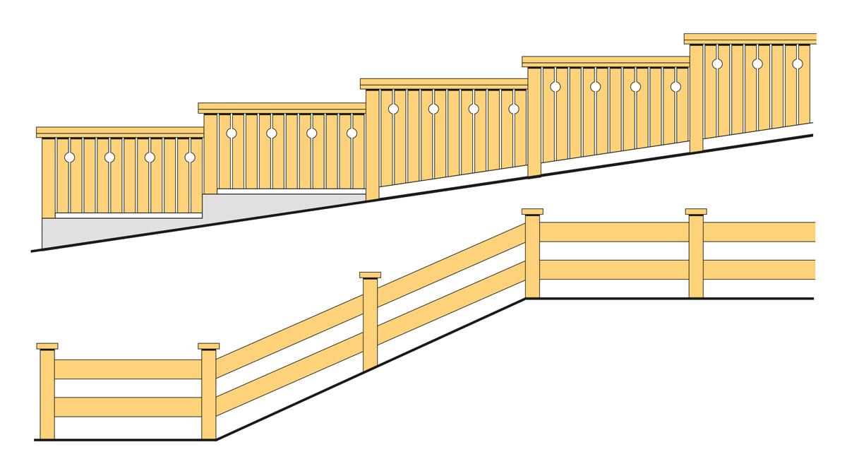 Staket och plank | Svenskt Trä - Byggbeskrivningar : staket ritning : Staket