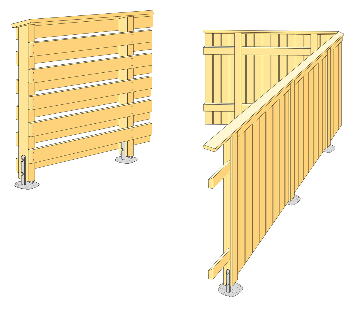 Staket och plank | Svenskt Trä - Byggbeskrivningar