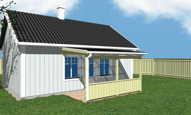 bygga tak över ingång